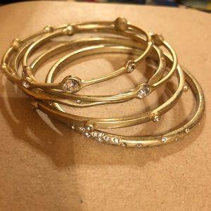 Lia Sophia Jewelry - Lia Sophia Gold Bracelet Bangles Set of 5